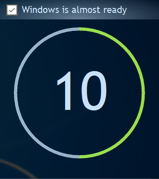 Windows startup countdown