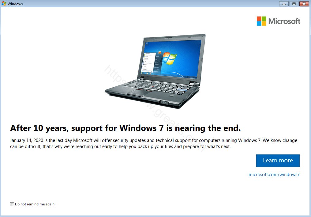 How to remove Windows 7 End-of-Service screen forever!